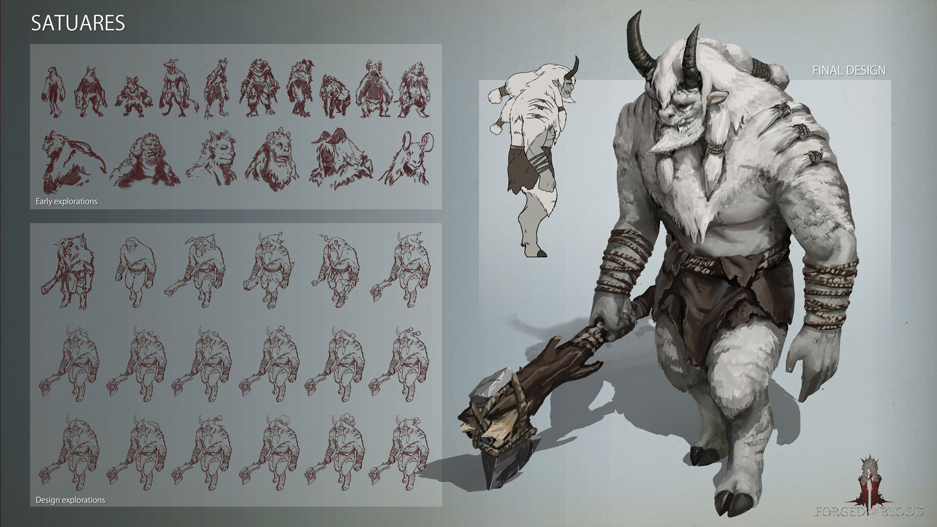 Forged of Blood Satures Race concept