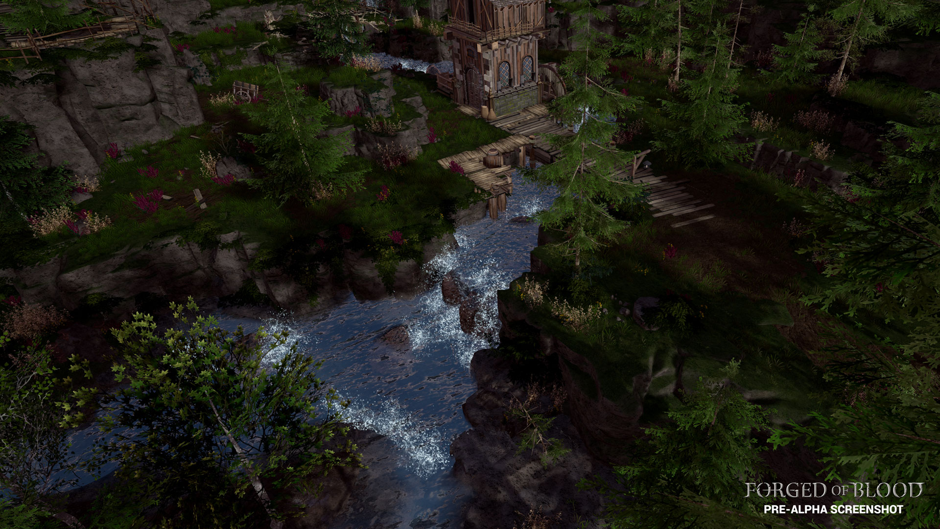 Forged of Blood, Screenshot Forest Village
