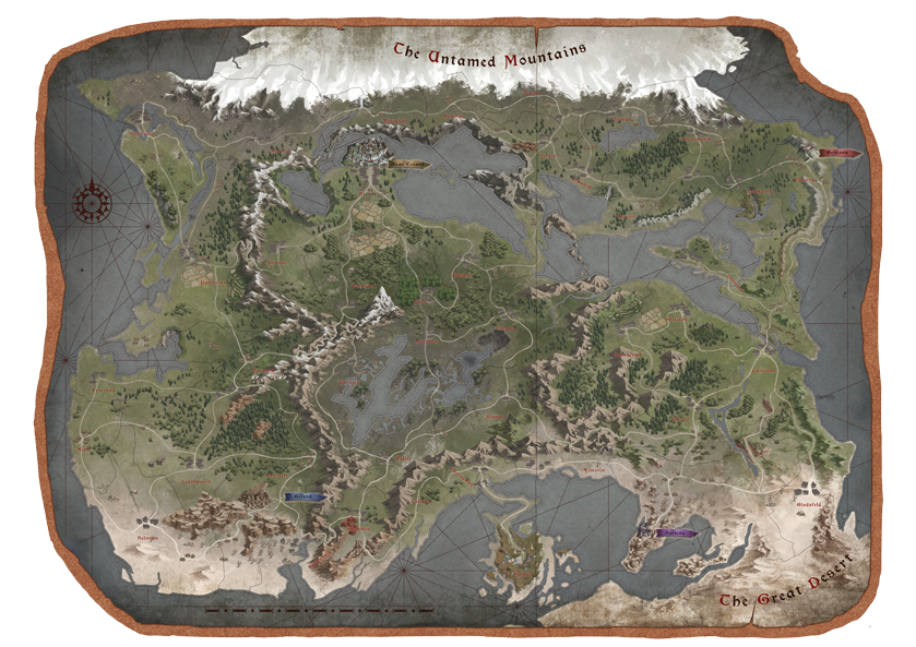 Forged of Blood World Map