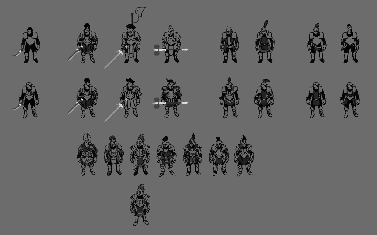 Character Armor Sketches